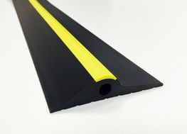 20MM BLACK YELLOW RUBBER GARAGE THRESHOLD SEAL