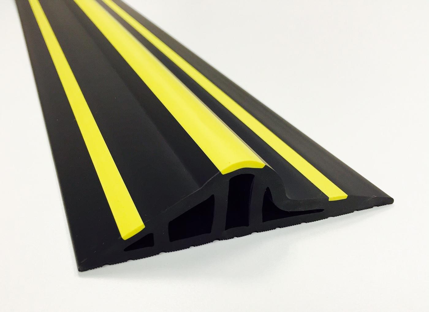 30mm Black Yellow Rubber Garage Threshold Seal Garage
