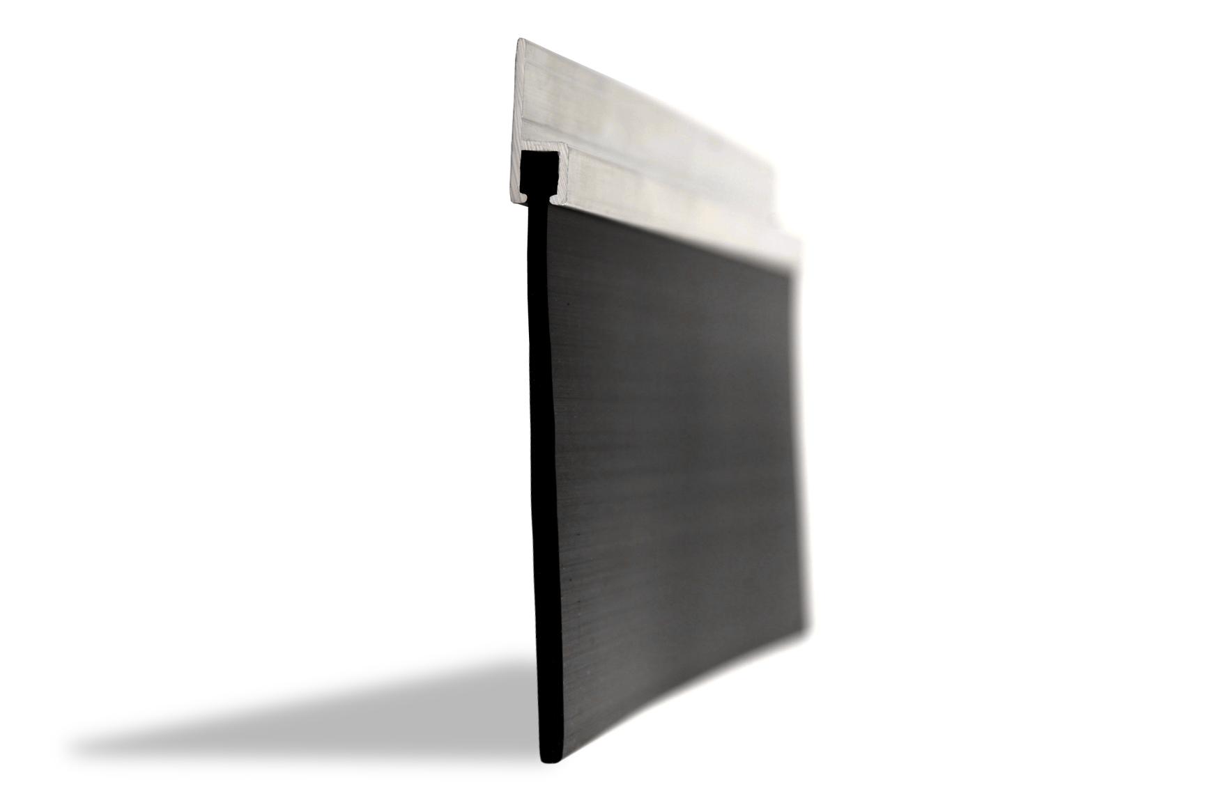 75mm rubber blade garage door seal garage door seals for Door rubber seal